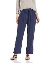 Michael Stars - Double Gauze With Trim Raw Hem Tapered Pant - Lyst