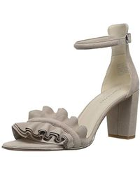 Kenneth Cole - Langley Ankle Sandal With Ruffle Detail On Front Strap Heeled - Lyst