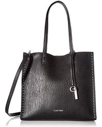 Calvin Klein - Zoey Bubble Lamb North/south Large Tote - Lyst