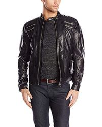 DIESEL - L-neilor Leather Jacket, , Large - Lyst