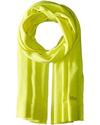 Lacoste - Solid Fine Jersey Cashmere Scarf - Lyst
