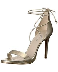 Kenneth Cole - Berry Heeled Sandal With Ankle Wraparound Lacing - Lyst
