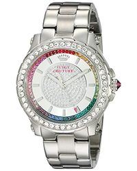 Juicy Couture - 1901237 Pedigree Analog Display Quartz Silver-tone Watch - Lyst