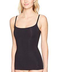 a31e2b2112570 Lyst - DKNY Stretch Silk Burnout Blouse in Black