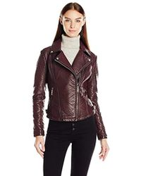 231c9c495a00e Guess - Almost Leather Moto Jacket (pu) - Lyst