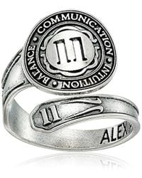 ALEX AND ANI - Numerology Number, Sterling Silver Spoon Ring, Size 7-9 - Lyst