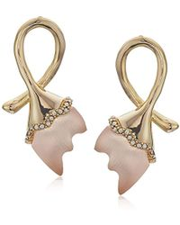 Alexis Bittar - Abstract Tulip Stud Post Earrings With Lucite, Sunset, One Size - Lyst