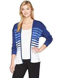 Nautica - Stripe Interlock Cardigan - Lyst