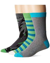 DIESEL - Ray 3 Pack Printed Socks - Lyst