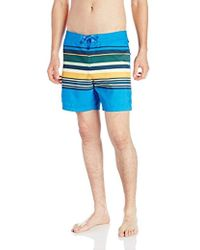 Original Penguin - Bold Engineered Stripe Fixed Volley Swim Trunk - Lyst