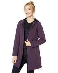 Calvin Klein - A-lined Hooded Soft Shell With Velboa Backing - Lyst