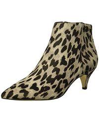668f2415fde82a Lyst - Sam Edelman Haircalf Leopard Print Kinzey Boots 35 in Gray