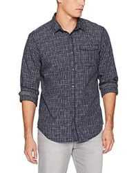 Calvin Klein - Jeans Long Sleeve Space Dyed Check Button Down Shirt - Lyst
