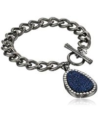 Kenneth Cole - Druzy Charm Toggle Bracelet - Lyst