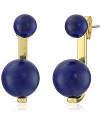 Noir Jewelry - Sphere Semi-precious Earrings With Jackets - Lyst
