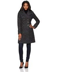 Ivanka Trump - Wool Texture Double Breasted Midi W/large Pockets - Lyst