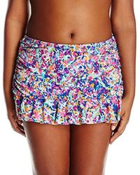 b88f633bad34a Kenneth Cole Reaction - Plus-size Don t Mesh With Me Skirted Bikini Bottom