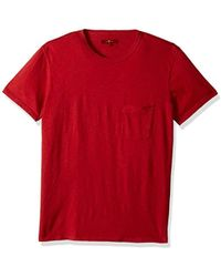 7 For All Mankind - Short Sleeve Raw Pocket Crew Neck Tee Shirt - Lyst