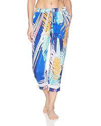 925cd8d479d Lyst - Ellen Tracy Striped Pajama Set in Blue