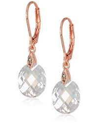 Anne Klein - Rose Gold Tone Faceted Drop Earrings - Lyst