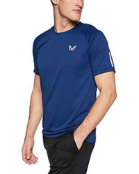 Peak Velocity - Channel-knit Performance Short Sleeve Quick-dry Athletic-fit Run T-shirt - Lyst