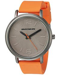 Skechers - 'the Ardmore' Quartz Metal And Silicone Casual Watch, Color:orange (model: Sr5048) - Lyst