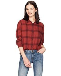 Calvin Klein - Jeans Long Sleeve Shadow Plaid Cozy Hi-low Button Down Shirt - Lyst
