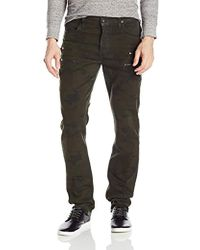 Hudson Jeans - Broderick Front Zip Slouchy Skinny Fit Militant Camo Wax - Lyst