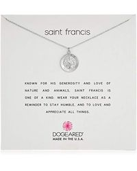 "Dogeared - Saint Francis Necklace St Francis Chain Necklace, 16"" - Lyst"