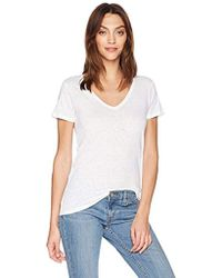 Majestic Filatures - Linen Stretch V-neck Tee - Lyst