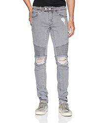 Guess - Skinny Quilted Moto Jean - Lyst