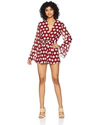 C/meo Collective - Unending Long Sleeve V Neck Playsuit - Lyst