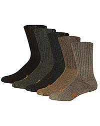 Dockers - 5 Pack Cushion Comfort Sport Crew Socks Dark Assorted Sock Size: 10-13/shoe Size: 6-12 - Lyst