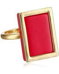 French Connection - Framed Rectangle Ring - Lyst