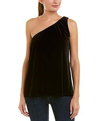 French Connection - Aurore Velvet One Shoulder Sleeveless Top - Lyst