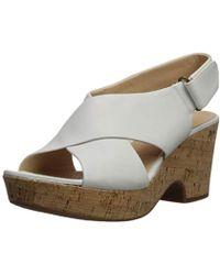 67256070dc1 Lyst - Clarks Maritsa Lara Wedge Sandal in Natural