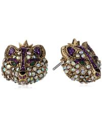 "Betsey Johnson - ""imperial Princess"" Fox Stud Earrings - Lyst"