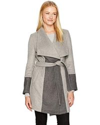Cupcakes And Cashmere - Akria Two Tone Wrap Coat - Lyst