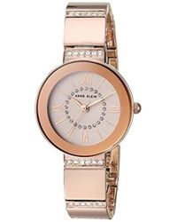 Anne Klein - Ak/3190rgrg Swarovski Crystal Accented Rose Gold-tone Bracelet Watch - Lyst