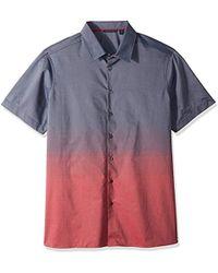 Perry Ellis - Big And Tall Short Sleeve Ombre Horizon Shirt - Lyst