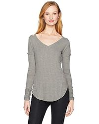 William Rast - Ives Cold Shoulder V-neck Top - Lyst