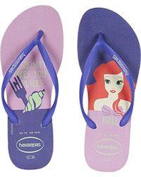 Havaianas - Slim Princess Flip Flops (white/navy Blue) Women's Sandals - Lyst
