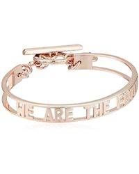 BCBGeneration - Bcbg Generation Cut-out 'future' Toggle Bracelet, Rose Gold, One Size - Lyst