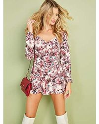 Guess - Long Sleeve Jewell Romper - Lyst