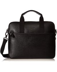 Ted Baker - Morcor Leather Document Bag, Black - Lyst