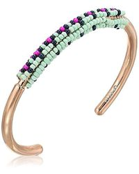 Fossil - Seed Bead Rose Gold Bracelet - Lyst