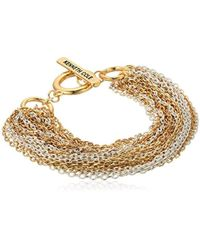 Kenneth Cole - Multi Chain Bracelet, White, One Size - Lyst