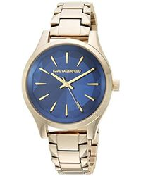 Karl Lagerfeld - 'janelle' Quartz Stainless Steel Casual Watch, Color:gold-toned (model: Kl1628) - Lyst