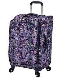 "London Fog - Soho 21"" Expandable Spinner Carry-on Luggage - Lyst"