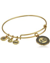 "ALEX AND ANI - ""sorority"" Delta Zeta Expandable Rafaelian Wire Bangle Bracelet - Lyst"